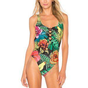 AGUA BENDITA Printed Reversible One Piece Swimsuit